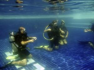 PADI instructor pool training