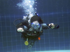 CESA during confined water training PADI IDC