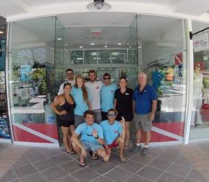 PADI scuba instructors
