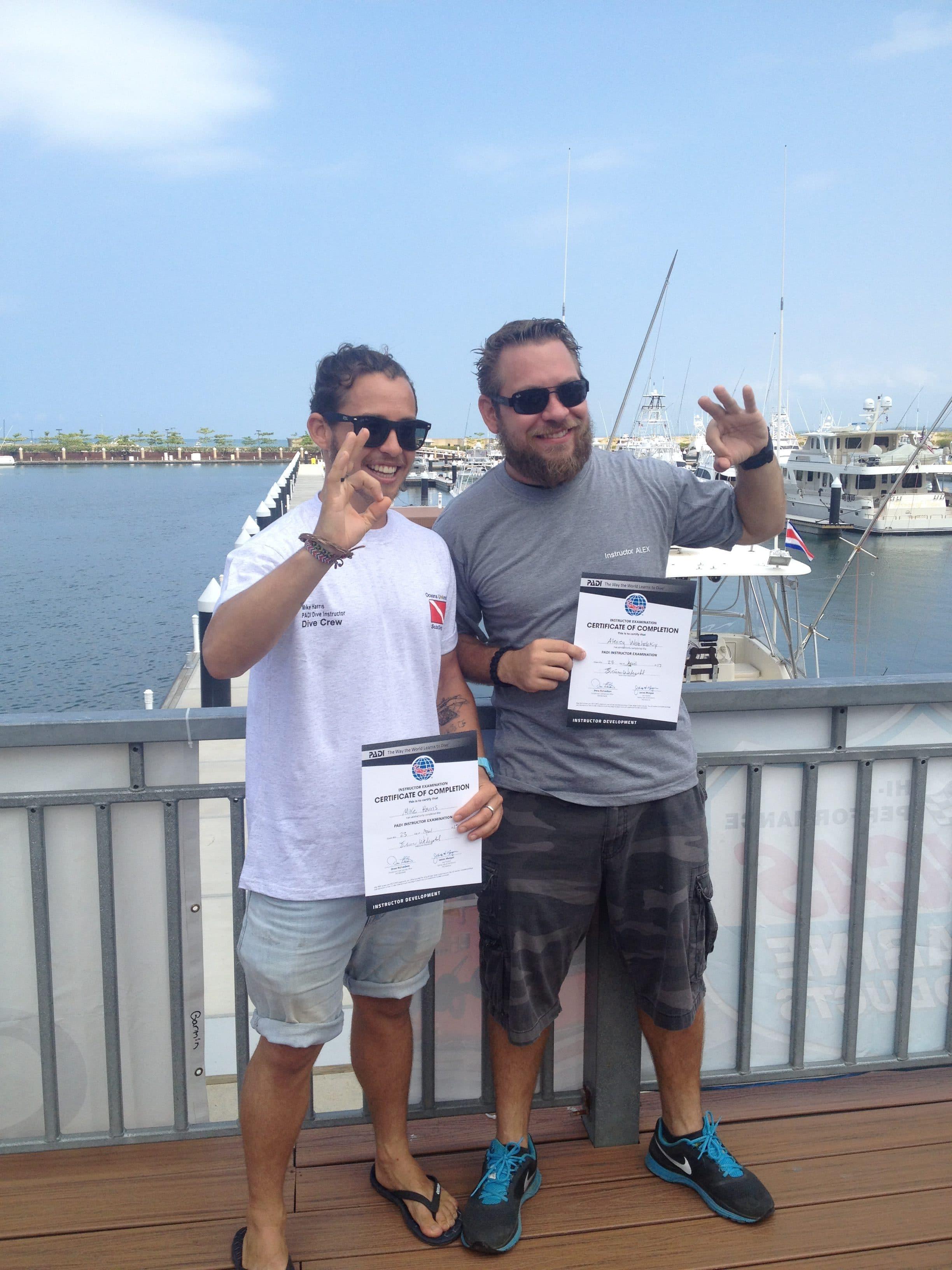 Congratulations new scuba instructors