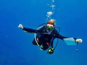 scuba diving at Cocos island