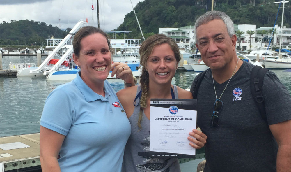 successful padi instructor candidate Katherine