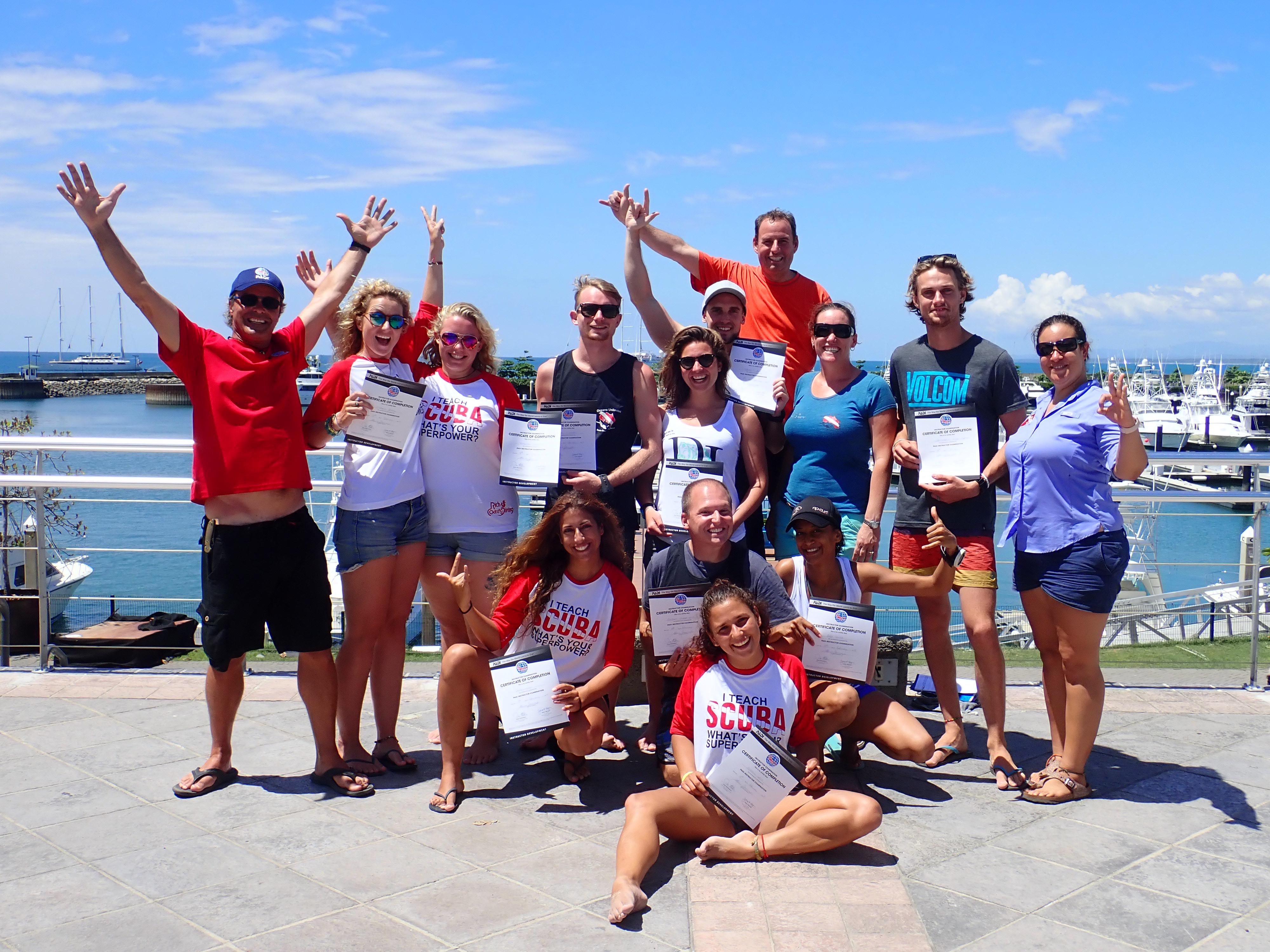 Teaching scuba is rewarding