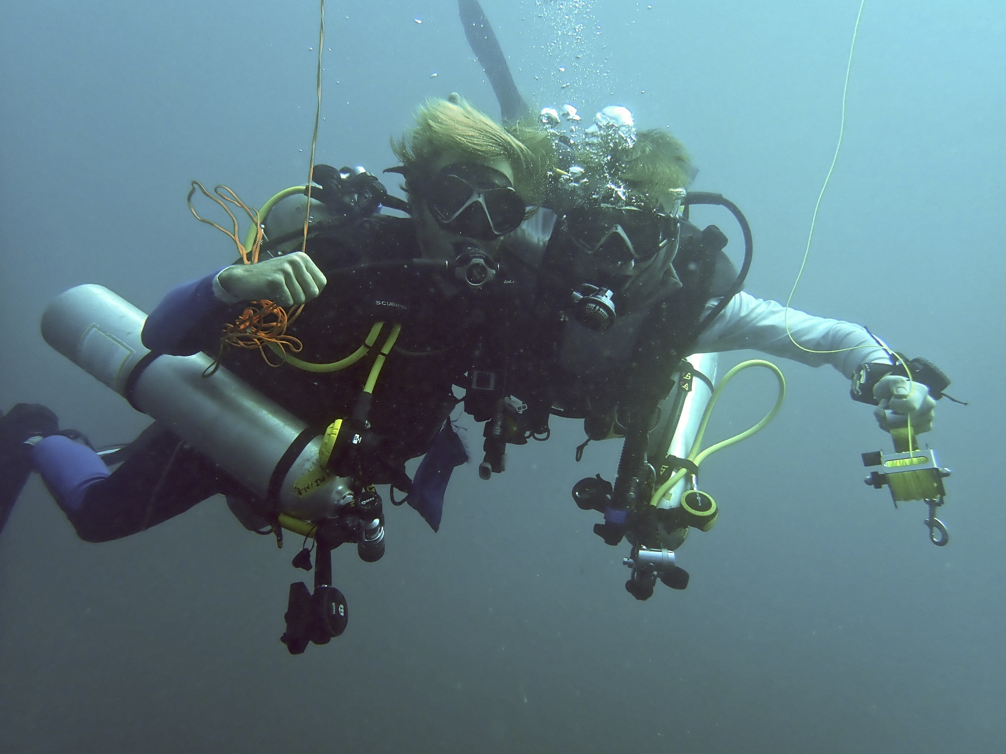 even self reliant divers need a cuddle