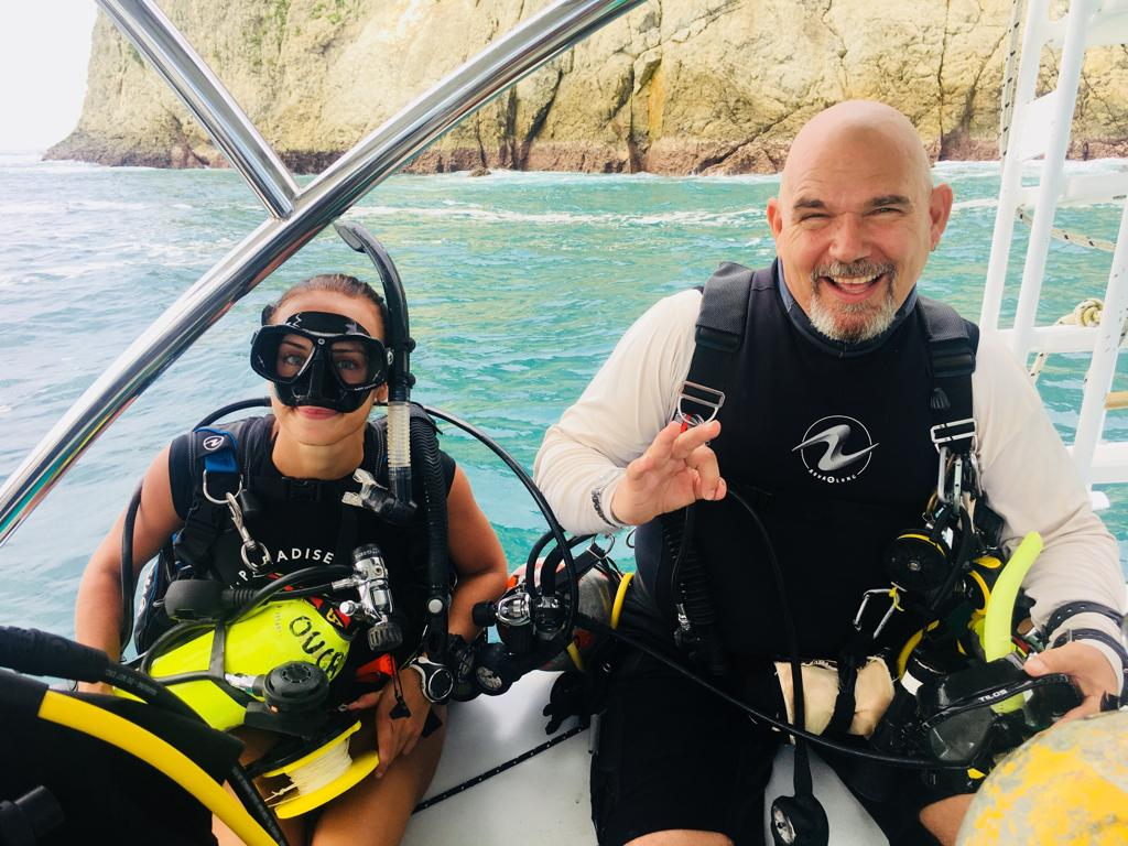 JT and Maggie before a deep dive