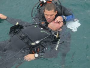 rescue diver practice