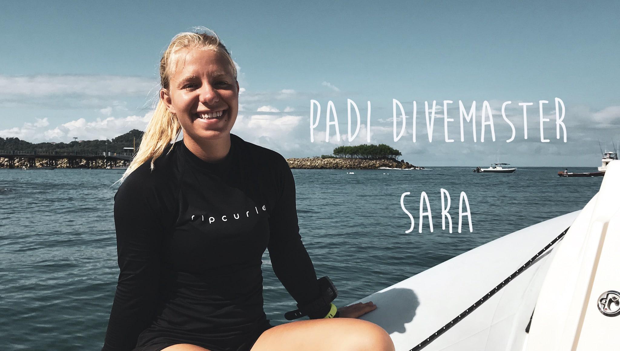 Say Hello to Divemaster Sara