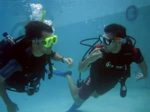 Divemaster training stress test