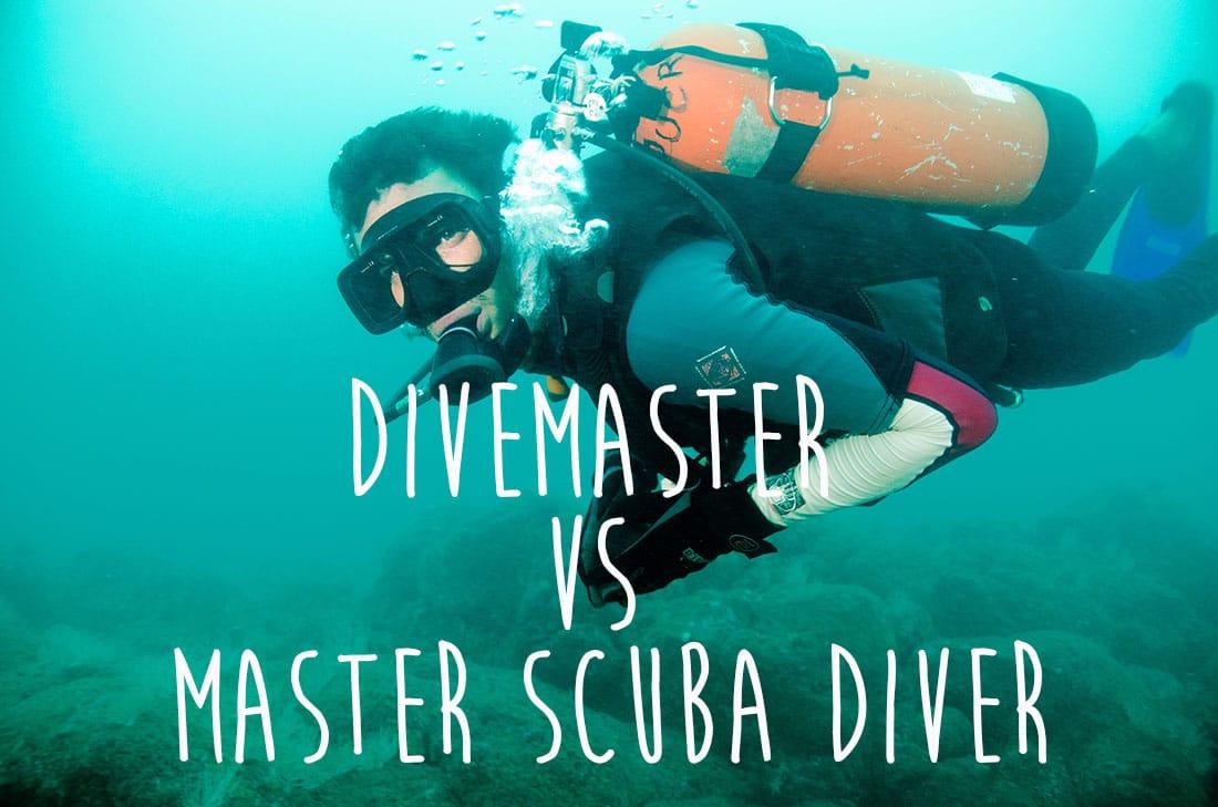 divemaster vs master scuba diver