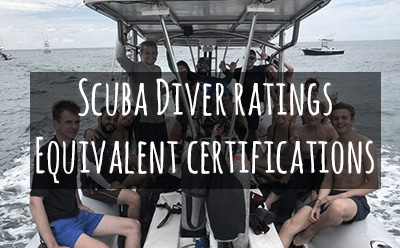 Scuba Diver equivalent ratings – Where do you begin your training?