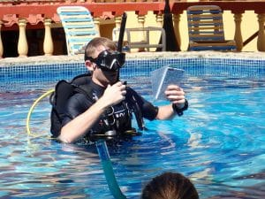 becoming an scuba instructor may be an option