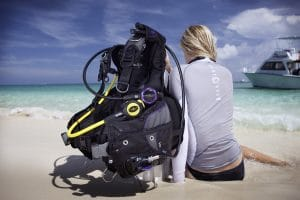 scuba travel gear