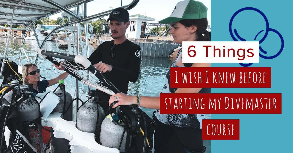 6 things i wish I knew before completing my Divemaster course