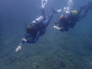 open water sessions during the PADI IDC
