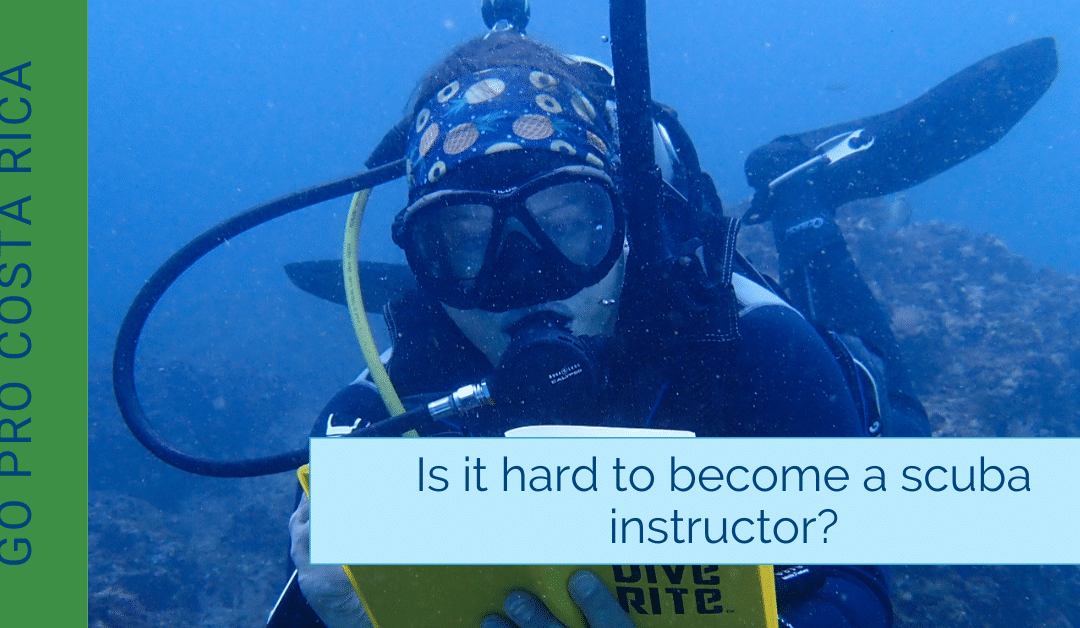 Is it hard to become a scuba instructor?