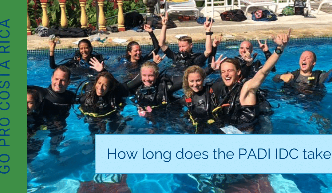 How long does the PADI IDC take?